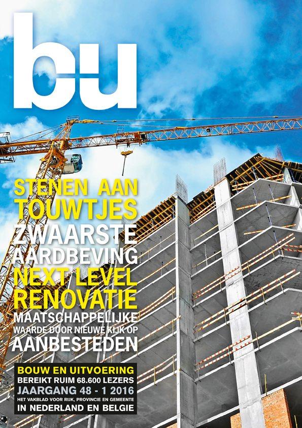 Cover magazine Bouw en Uitvoering 1-2016