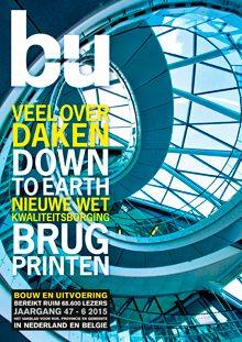 Cover magazine Bouw en Uitvoering 6-2015