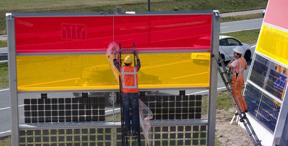 'Zonne-energie uit geluidsschermen heeft potentie'