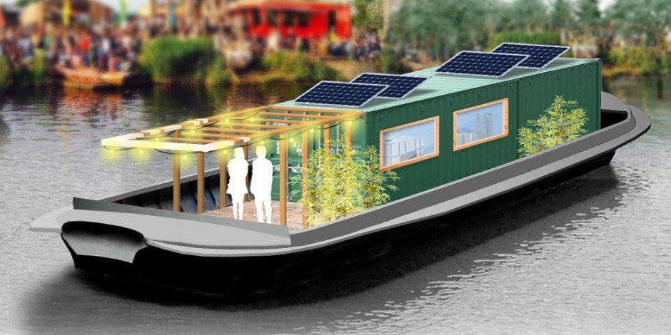 Asfalt gerecycled als ballast voor biogasboot