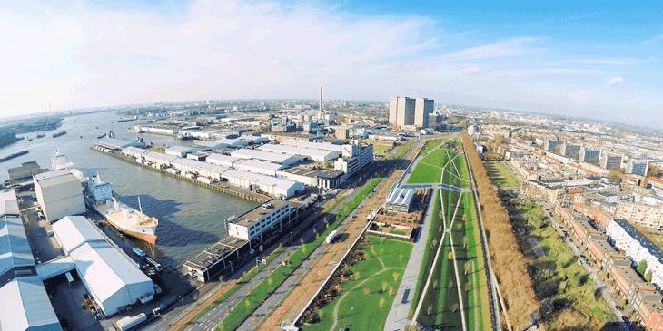 Lege haven decor nieuwe maakindustrie