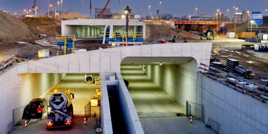 Koning Willem-Alexandertunnel unieke dubbellaagse constructie