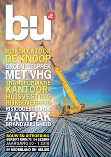 Cover magazine Bouw en Uitvoering 1-2018