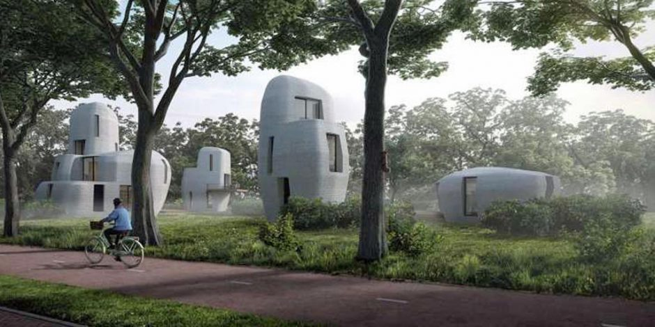 Eerste 3D-geprinte woning van beton in Eindhoven
