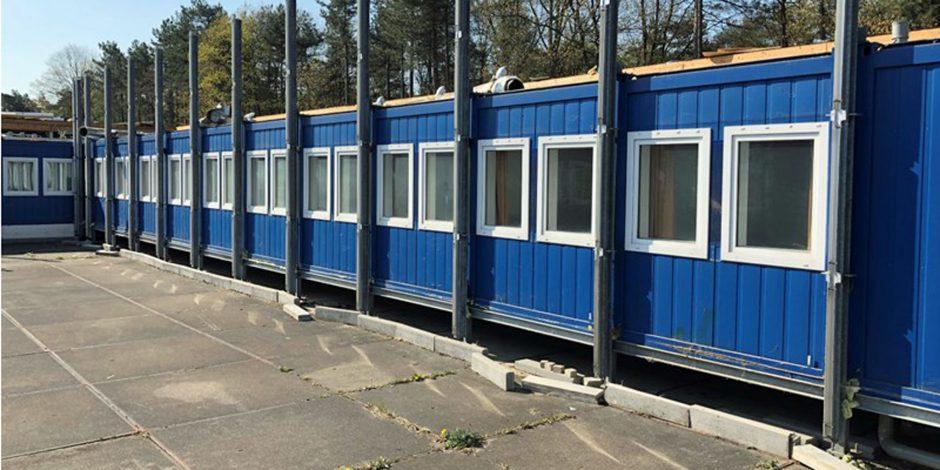 400 container woon- en kantoorunits onder de virtuele hamer