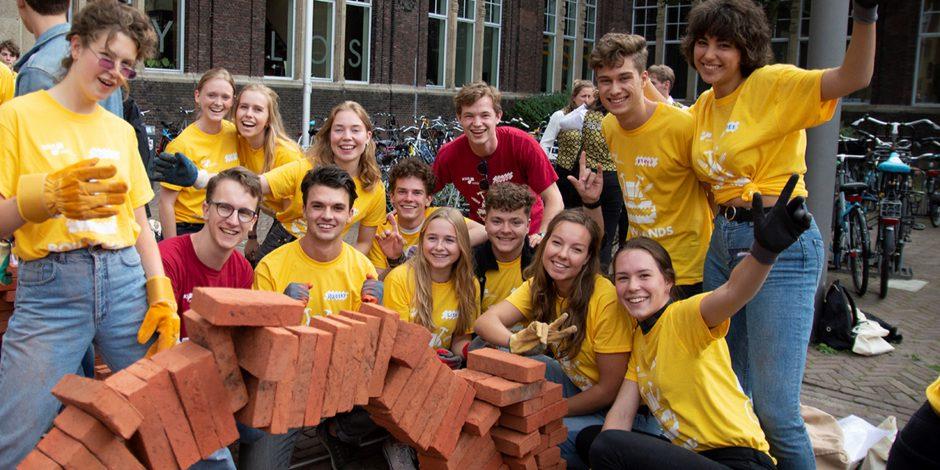 Nieuw record baksteenstapelen door TU Delft