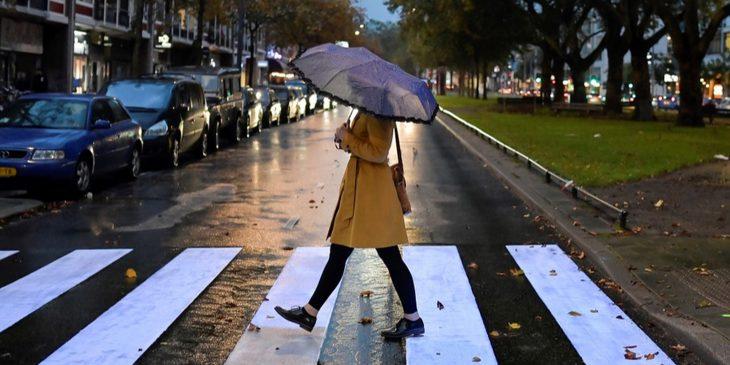Fluorescerend zebrapad verbetering verkeersveiligheid